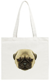 Illustrated Portrait of Pug Puppy Tote Bag Tote Bag by  ant_art