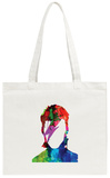 David Watercolor Portrait Tote Bag Tote Bag by Lora Feldman