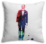 C-3PO in a Suit Watercolor Throw Pillow Throw Pillow by Lora Feldman