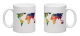 World Wire Map 1 Mug Mug by  NaxArt