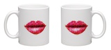Beautiful Woman Lips Formed by Abstract Triangles Mug Mug by  artant