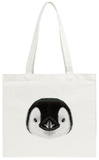 Illustrated Portrait of Emperor Penguin Chick Tote Bag Tote Bag by  ant_art
