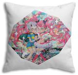 Come Together, Again and Again Throw Pillow Throw Pillow by Hikari Shimoda