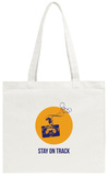 Stay on Track Circle 2 Tote Bag Tote Bag by  NaxArt