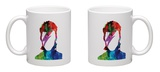 David Watercolor Portrait Mug Mug by Lora Feldman