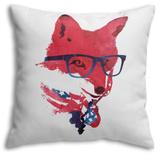 American Fox Throw Pillow Throw Pillow by Robert Farkas