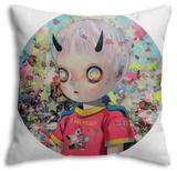 Solitary Child Throw Pillow Throw Pillow by Hikari Shimoda