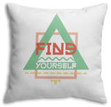 Find Yourself Throw Pillow Throw Pillow by  Vanzyst