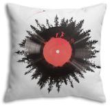 The Vinyl of My Life Throw Pillow Throw Pillow by Robert Farkas