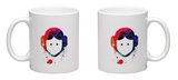 Leia Cartoon Watercolor Mug Mug by Lora Feldman