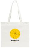 Washington D.C. Yellow Subway Map Tote Bag Tote Bag by  NaxArt