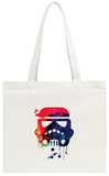 Starship Trooper Watercolor Cartoon Tote Bag Tote Bag by Lora Feldman