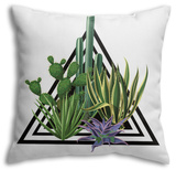 Cacti and Succulents Throw Pillow Throw Pillow by  incomible