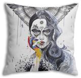 Janus Throw Pillow Throw Pillow by  Minjae
