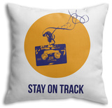 Stay on Track Circle 2 Throw Pillow Throw Pillow by  NaxArt