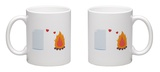 Paper Have Foolish Love with Fire Mug Mug by  Solar22