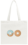 Two Smiling Donuts Tote Bag Tote Bag by  korinoxe