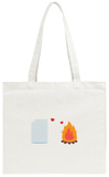 Paper in Foolish Love with Fire Tote Bag Tote Bag by  Solar22