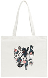 Crazy Cartoon Monsters Tote Bag Tote Bag by  panova