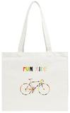 Bike in Colorful Stripes Tote Bag Tote Bag by  bolotov