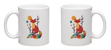 Rainbow Fox Mug Mug by Andy Westface