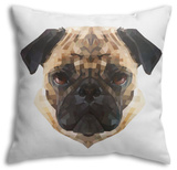 Pug Throw Pillow Throw Pillow by Lora Kroll