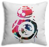 BB8 Watercolor 1 Throw Pillow Throw Pillow by Lora Feldman