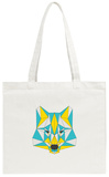 Abstract Wolf Tote Bag Tote Bag by  vanillamilk