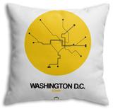 Washington D.C. Yellow Subway Map Throw Pillow Throw Pillow by  NaxArt