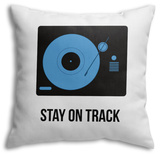 Stay on Track Blue Throw Pillow Throw Pillow by  NaxArt