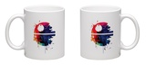 Death Star Watercolor Cartoon Mug Mug by Lora Feldman