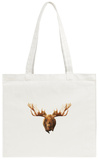 Moose Tote Bag Tote Bag by Lora Kroll