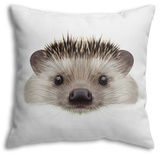 Illustrated Portrait of Hedgehog Throw Pillow Throw Pillow by  ant_art