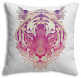 Polygonal Tiger Graphic Design. Throw Pillow Throw Pillow by  Kundra