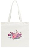 Vintage Garden Watercolor Spring Bouquet with Pink Flowers Blooming Tote Bag Tote Bag by Varvara Kurakina