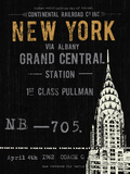 New York Travel Giclee Print by  The Vintage Collection