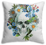 Watercolor Human Skull Throw Pillow Throw Pillow by  tanycya