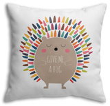 Give Me a Hug Throw Pillow Throw Pillow by Andy Westface