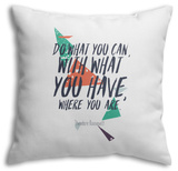 Do What You Can Throw Pillow Throw Pillow by  Vanzyst