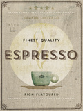 Crafted Coffee - Espresso Giclee Print by Hens Teeth