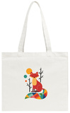 Rainbow Fox Tote Bag Tote Bag by Andy Westface