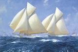 Columbia and Shamrock off Rhode Island, 1899 Giclee Print by Steven Dews