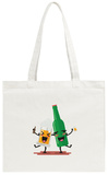 Drunk Beer Glass and Bottle Tote Bag Tote Bag by Sira Anamwong