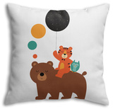 Little Explorer Throw Pillow Throw Pillow by Andy Westface