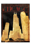 Gold Chicago Posters by Jace Grey