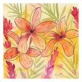 Sunset Plumeria I Art by Beverly Dyer