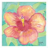 Sunset Hibiscus II Posters by Beverly Dyer