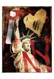 I Love Ny Gold Posters by Jace Grey