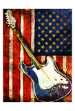 Patriotic Guitar Posters by Jace Grey