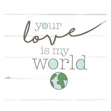 Love World Print by Jace Grey